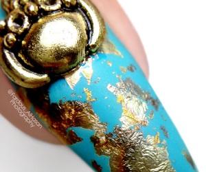 blue nails, nail, and nail art image