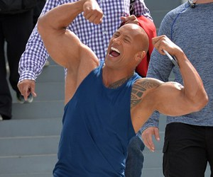 Dwayne Johnson, rock, and dailymail image