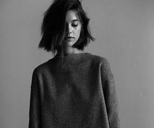 girl, model, and black and white image