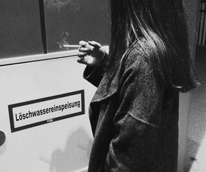 alternative, girl, and smoke image