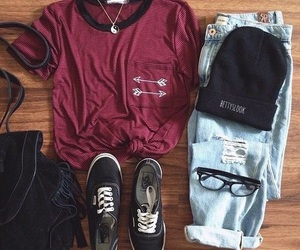 outfit, fashion, and vans image