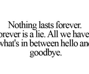 quote, forever, and goodbye image