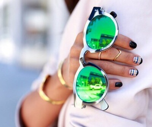 fashion, sunglasses, and nails image