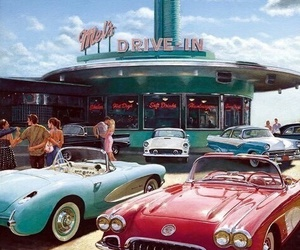 cars, vintage, and americain image