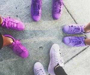 adidas, purple, and shoes image