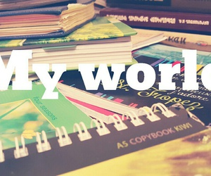 books, colorful, and exam image