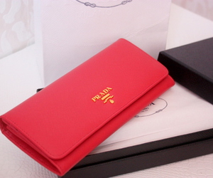 Prada, wallet, and red image
