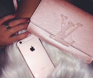 pink, iphone, and luxury image