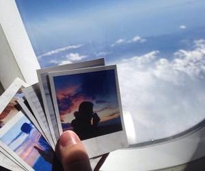 sky, travel, and polaroid image