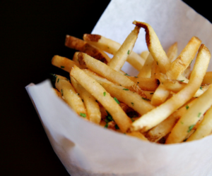 food, fries, and yum image