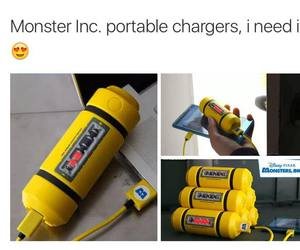 charger, monsters inc, and phone image