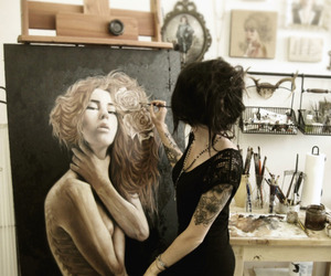 art, tattoo, and painting image