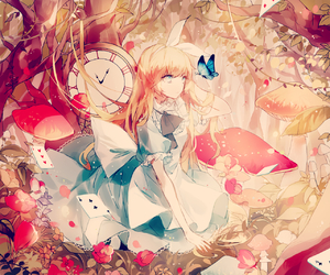 anime girl, anime, and alice in wonderland image