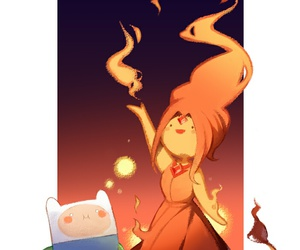 finn, adventure time, and flaminn image
