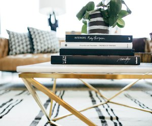book, interior design, and living room image