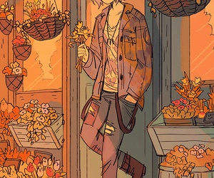 boy, flowers, and max image