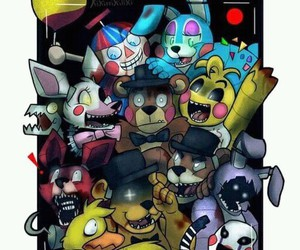bb, foxy, and Freddy image