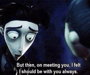 love, quotes, and corpse bride image