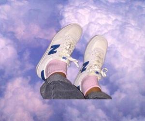fashion, shoes, and sky image