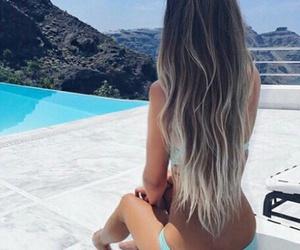 bikini, balayage, and fun image