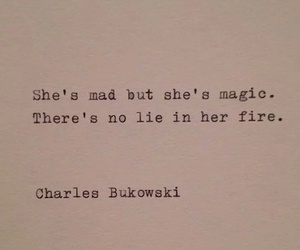 magic, quotes, and charles bukowski image