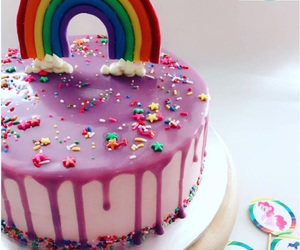 birthday cake, pink cake, and fancy cake image