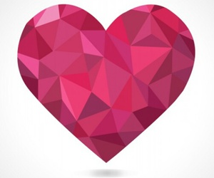 heart, rosa, and corazón image