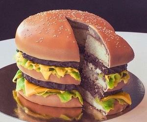 cake, food, and burger image