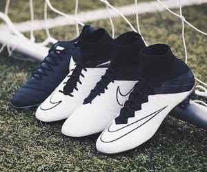 cleats, nike, and soccer image