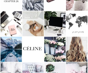 background, celine, and Collage image
