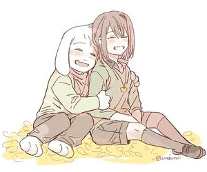art, chara, and undertale image