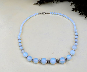 etsy, gift for her, and moonstone necklace image