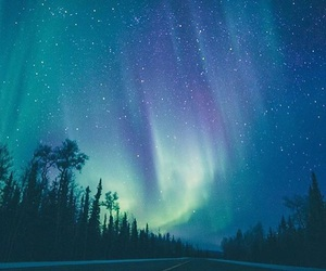 alaska, aurora borealis, and blue image