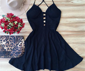 dress, clothes, and black image