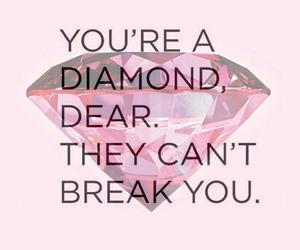 diamond, quote, and break image