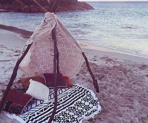 beach and tent image
