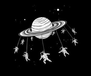 space, planet, and astronaut image