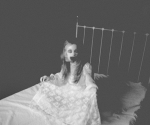 bed, eerie, and scary image