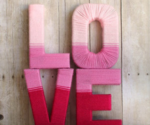 love, pink, and red image