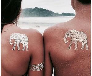 couple, henna, and love image