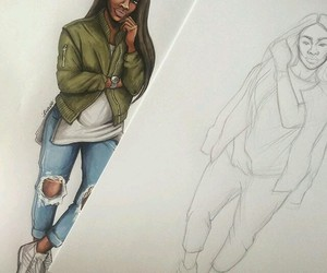 art, clothes, and draw image