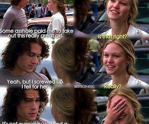 10 things i hate about you, love, and movie image