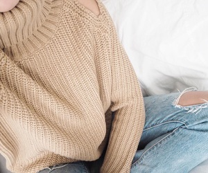 chic, sweater, and classy image