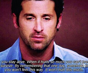 grey's anatomy, hurt, and life image