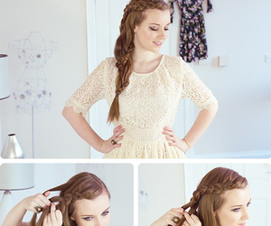 braids, diy, and lace braid image