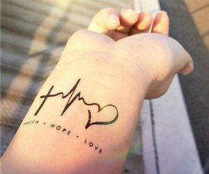 tattoo, hope, and faith image