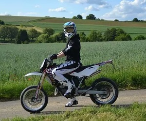 boy and motocross image