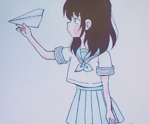 drawing, girl, and japanese image