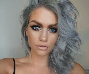 girl, hair, and silver image