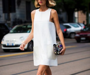 dress, street style, and white image